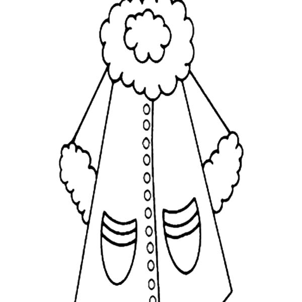 Coloring page of a coat clipart best for Coloring pages of winter coats