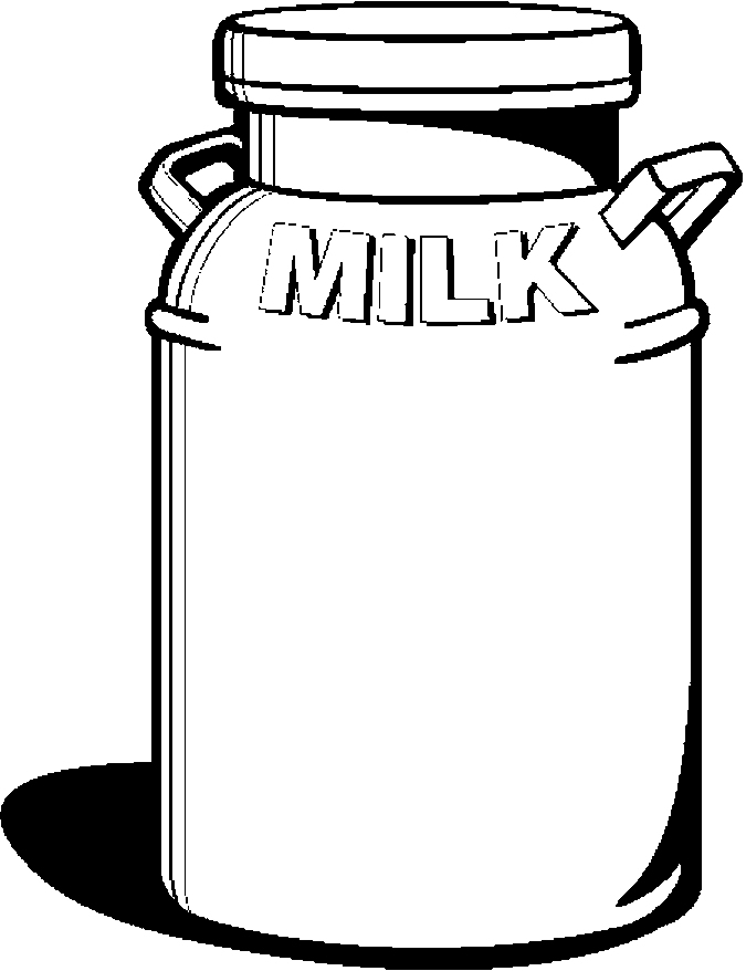 Milk Can Cartoon Clipart Best The Tank Coloring Pages