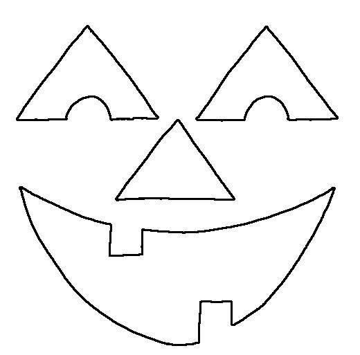 pumpkin coloring pages faces - photo#25