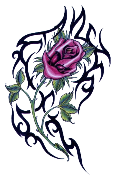 Free Flower Tattoo Designs - ClipArt Best
