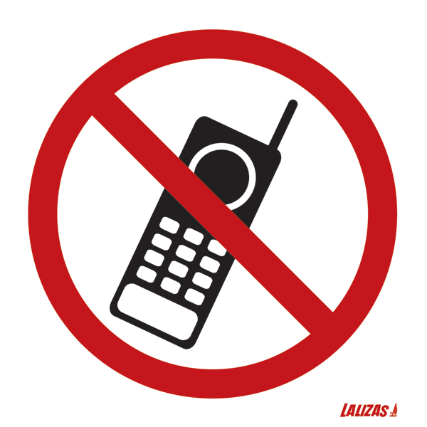 Lalizas Imo Signs - No Mobile Phones