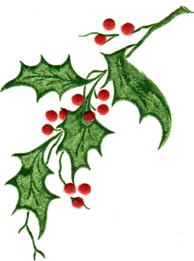 Holly Leaf And Berries - ClipArt Best