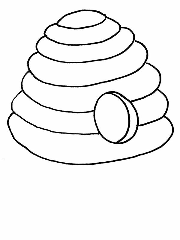 bee hive coloring pages - photo#10