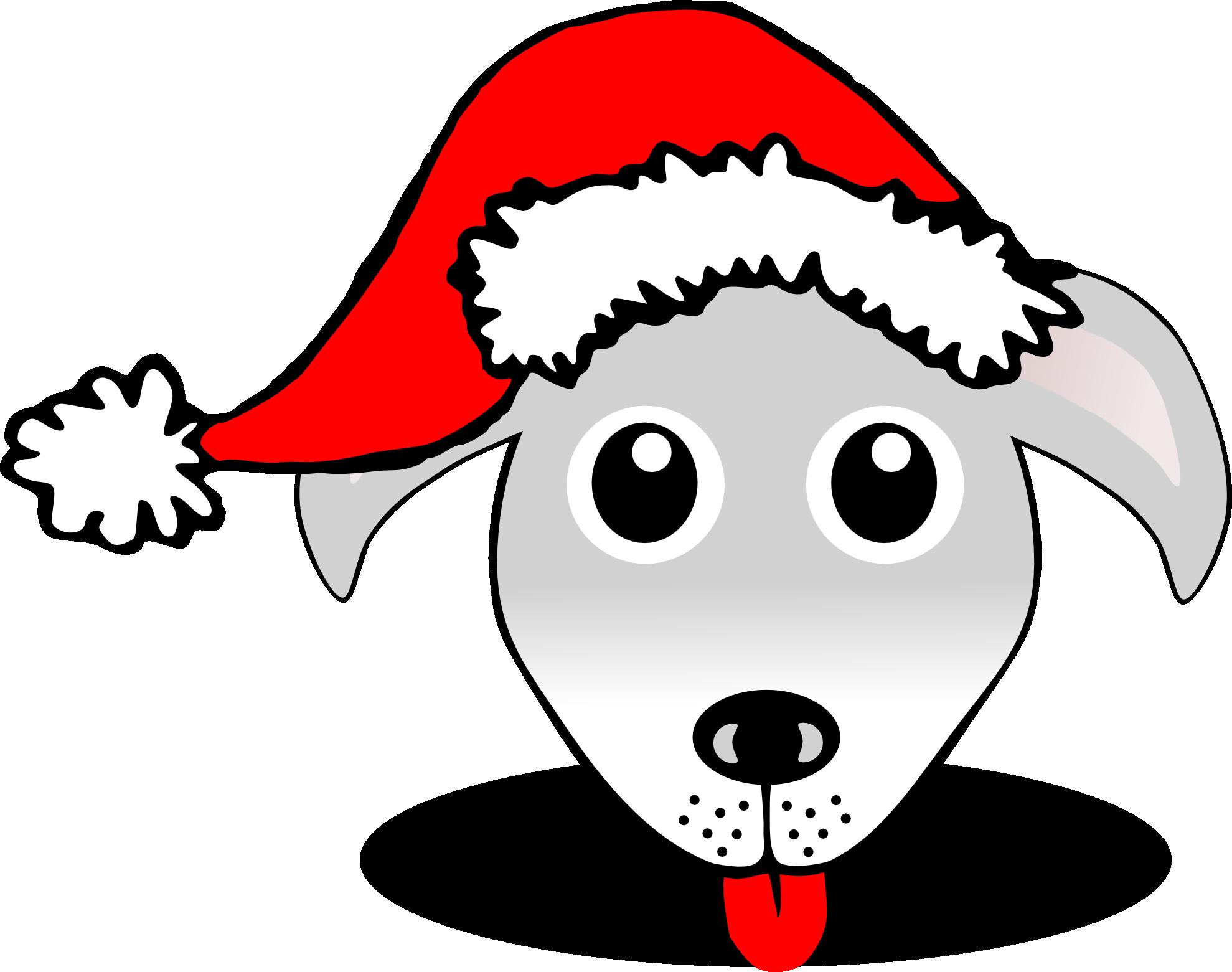 Clip Art: Palomaironique Dog Face Cartoon Grey