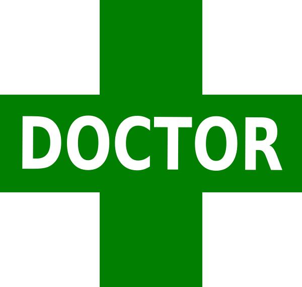 Doctor Logo Green White clip art - vector clip art online, royalty ...