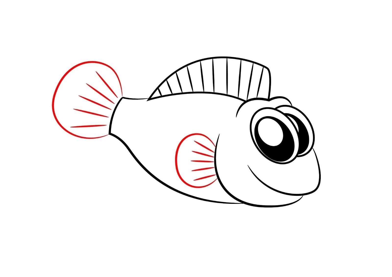 Cartoon fish drawings clipart best for Cartoon fish drawing