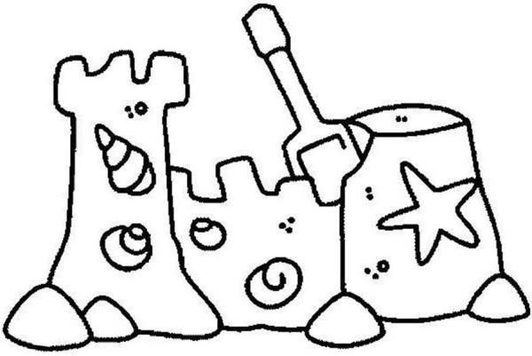 sand castle coloring pages - photo#15