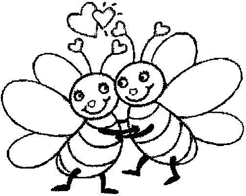 Bees To Colour In