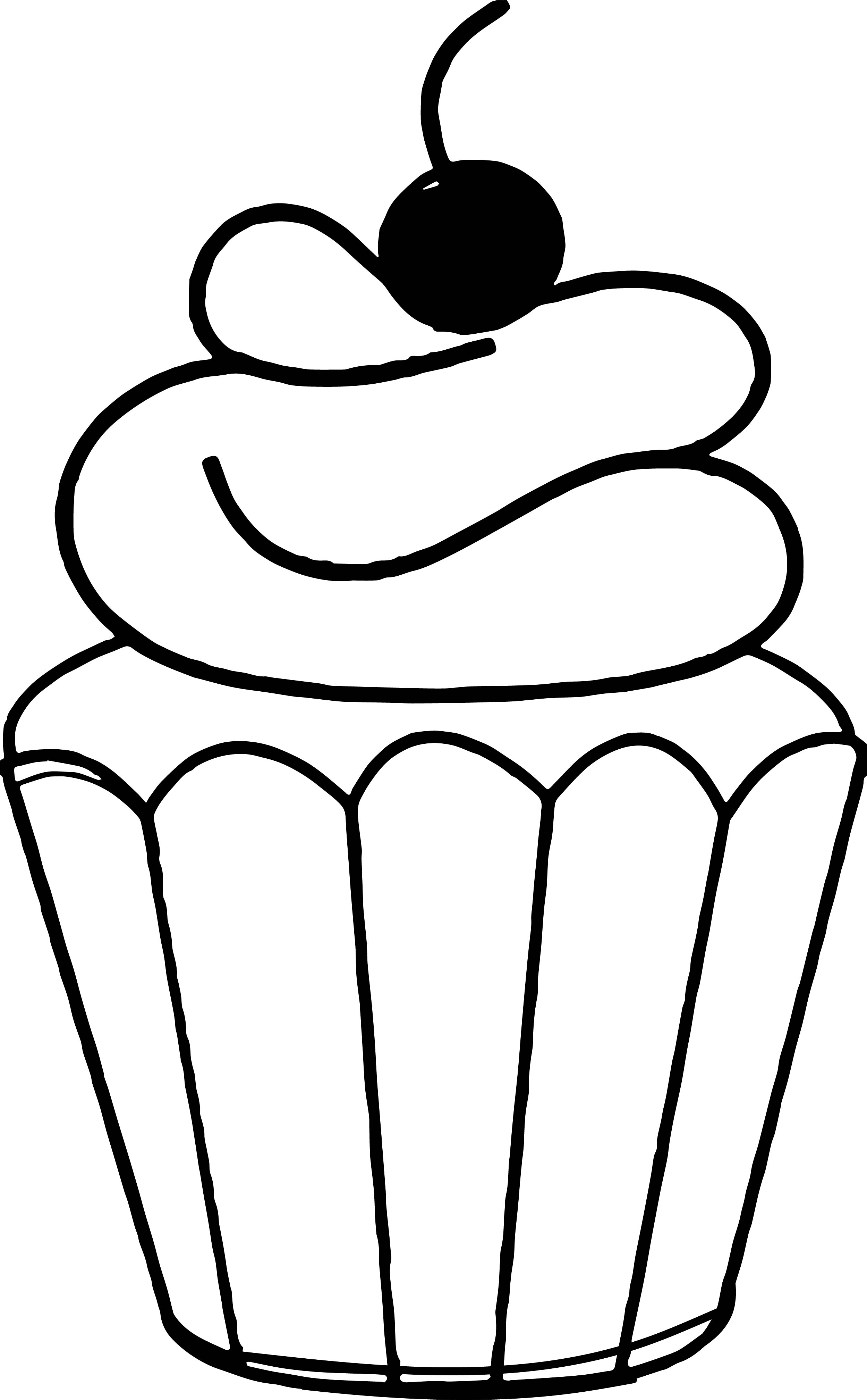 Clipart Cake Coloring : Cupcake Clipart White - ClipArt Best