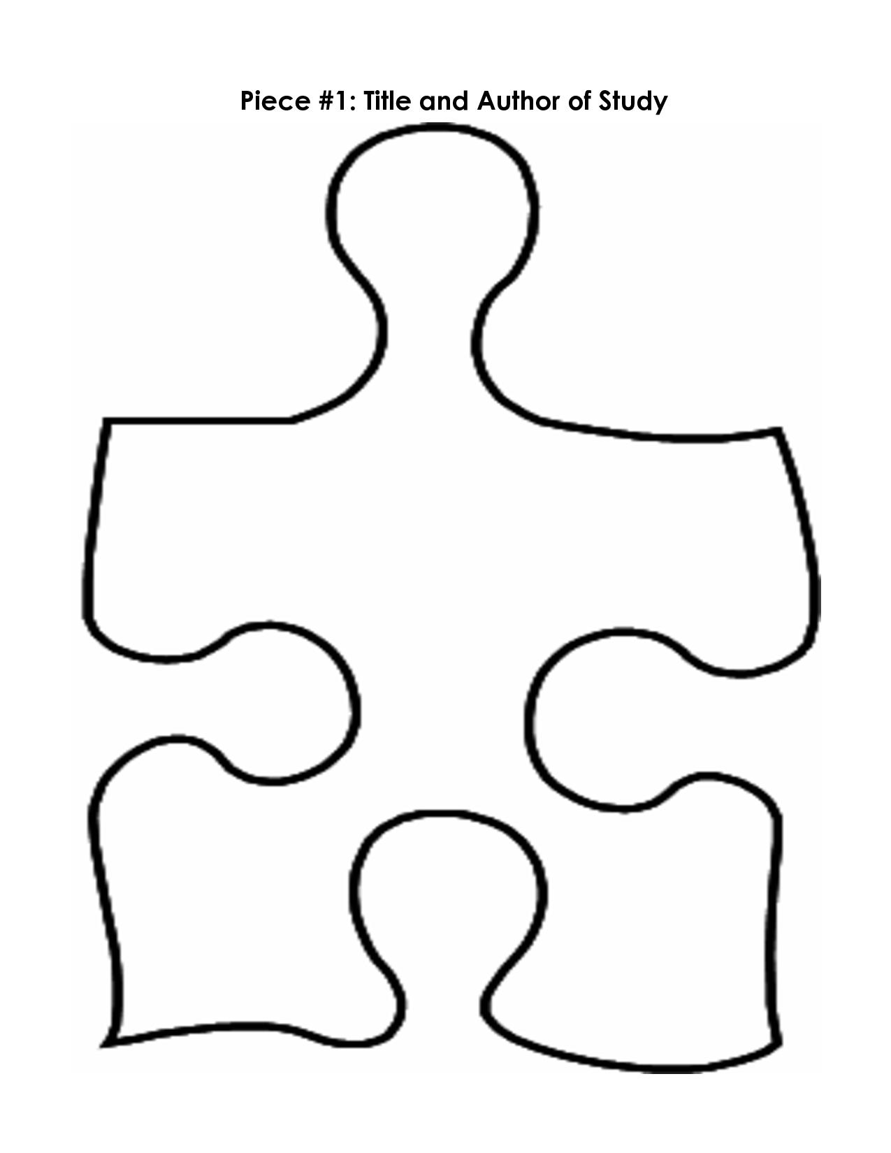 Puzzle Piece Coloring Sheet Clipart Best