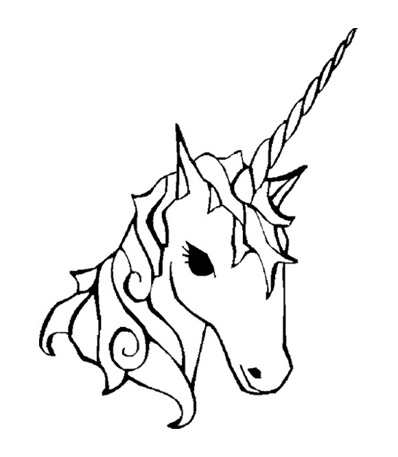 Unicorn Head Coloring Pages