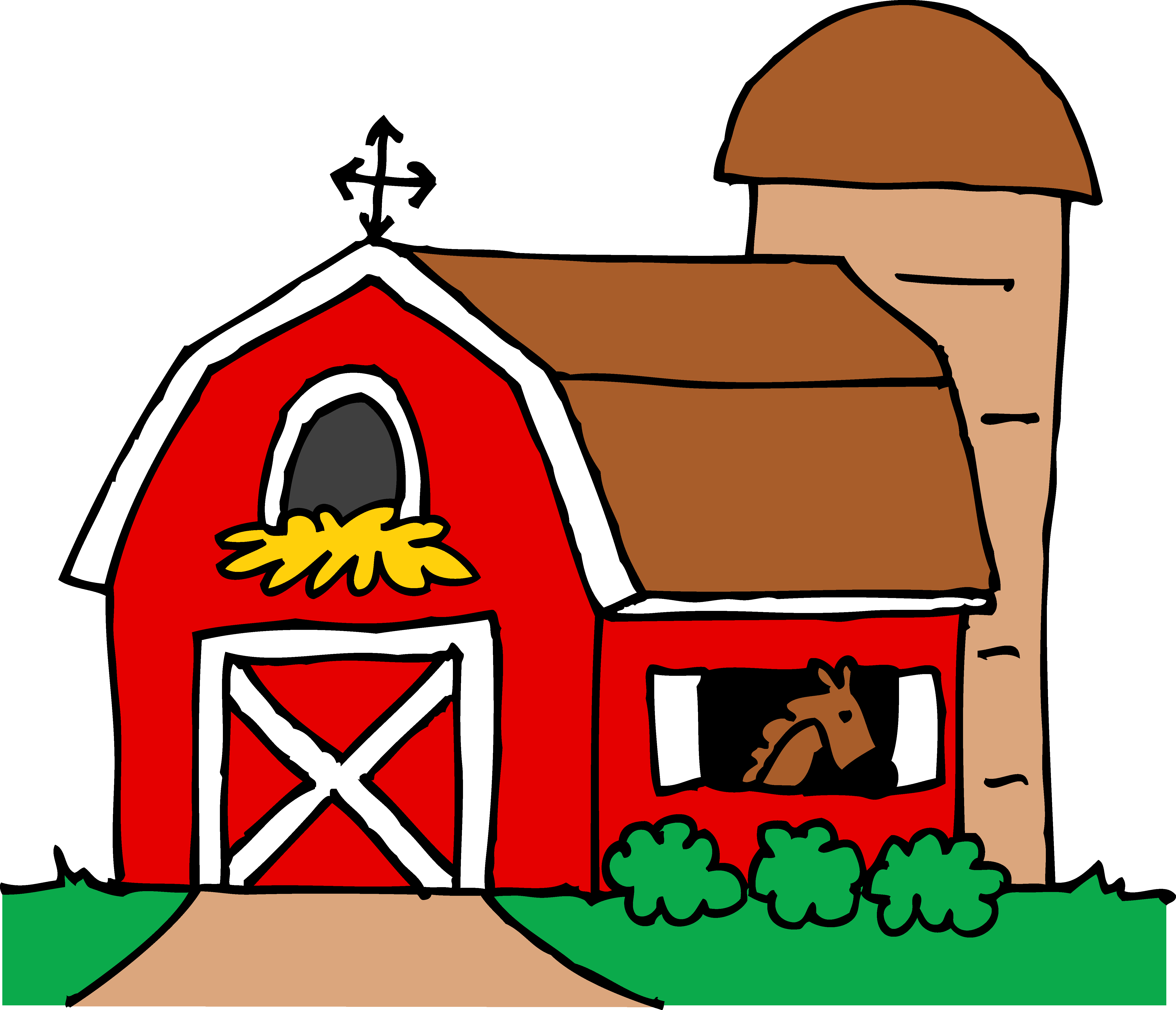 Cartoon farm house clipart best for Farm house