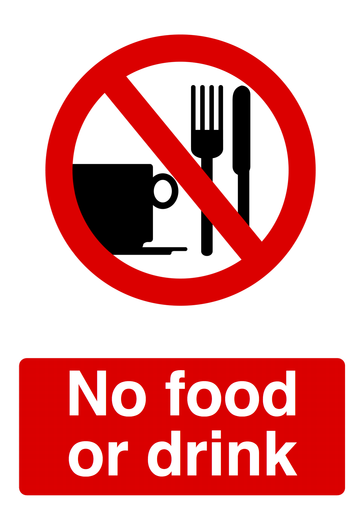 No Food Or Drink Clipart Free