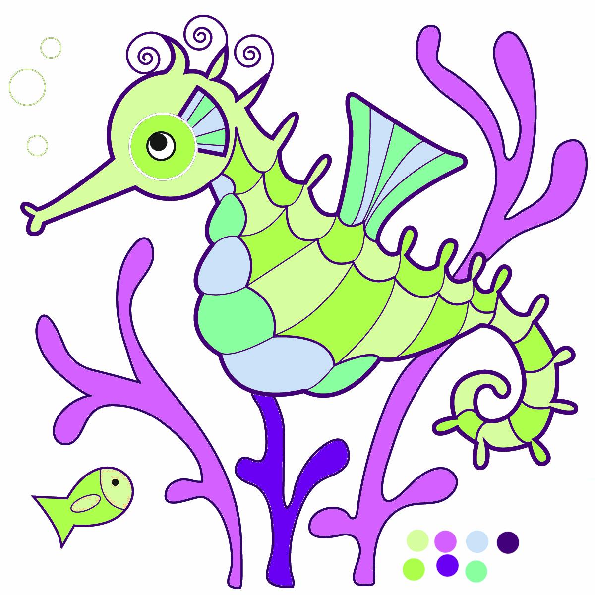 Seahorse images clip art