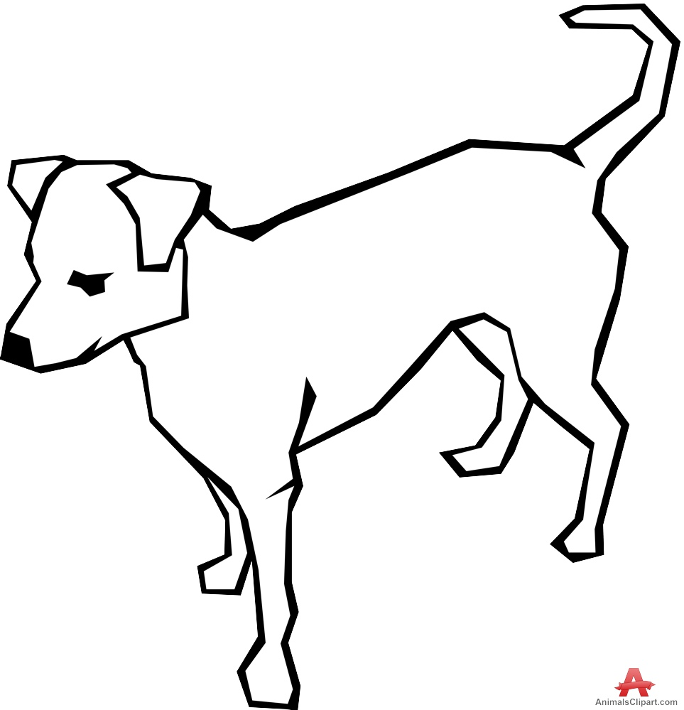 Dog Outline - ClipArt Best