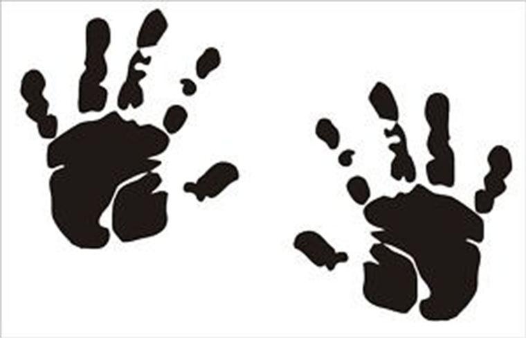 Baby Handprint Clipart Clipart Best