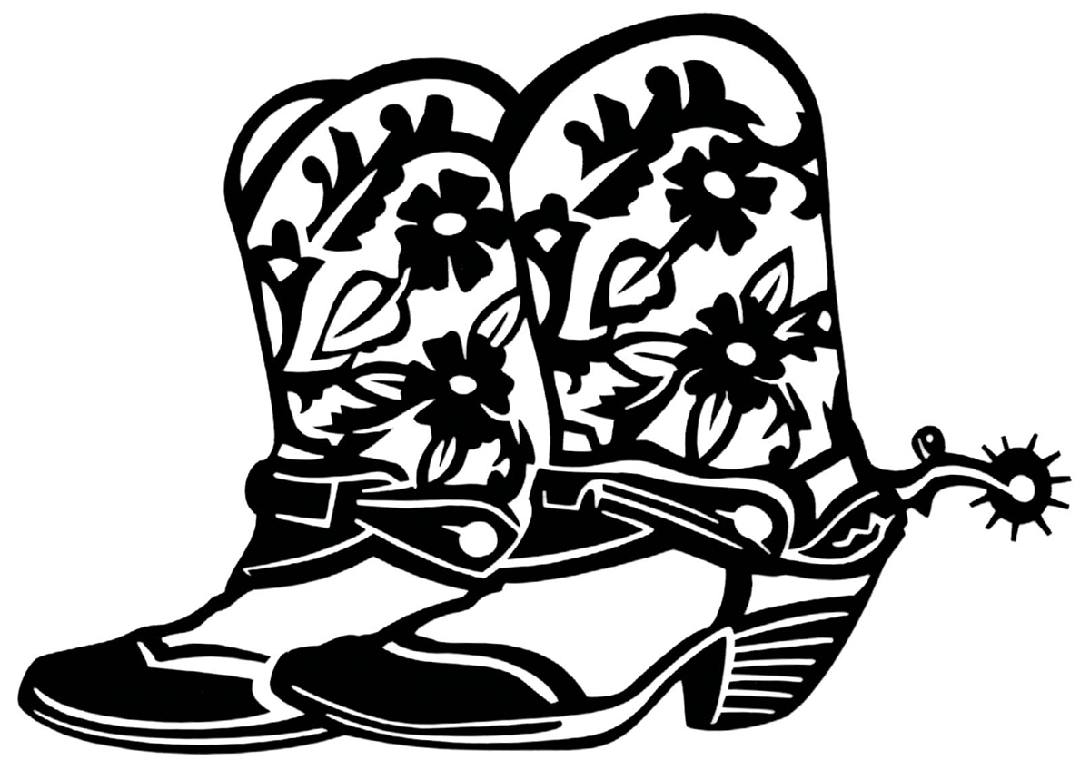 Printable Cowboy Boot Clipart Best