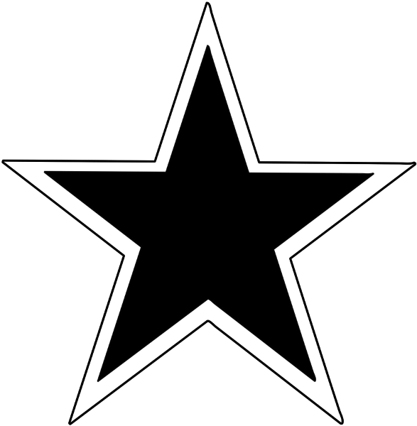Double Outline Star - ClipArt Best