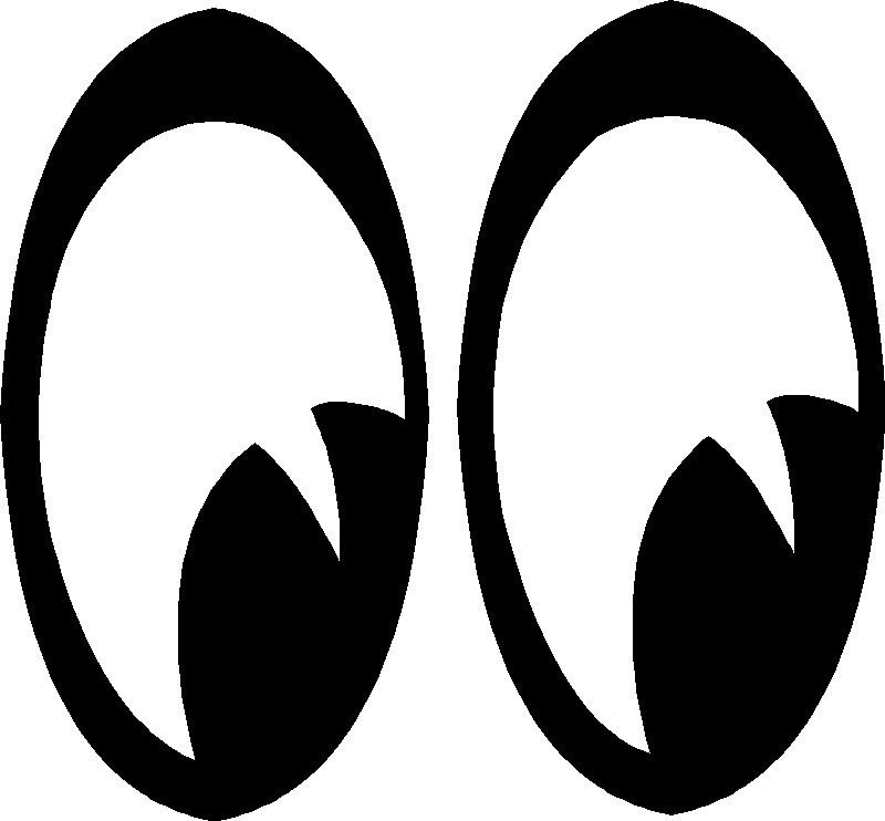 eyes looking down clipart - photo #18