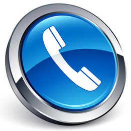 Telephone Icon In Blue - ClipArt Best