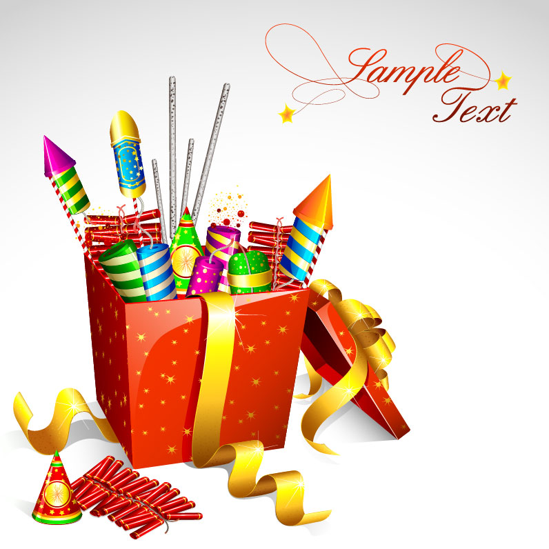 Cartoon Festival fireworks firecrackers vector-2 | Vector ...