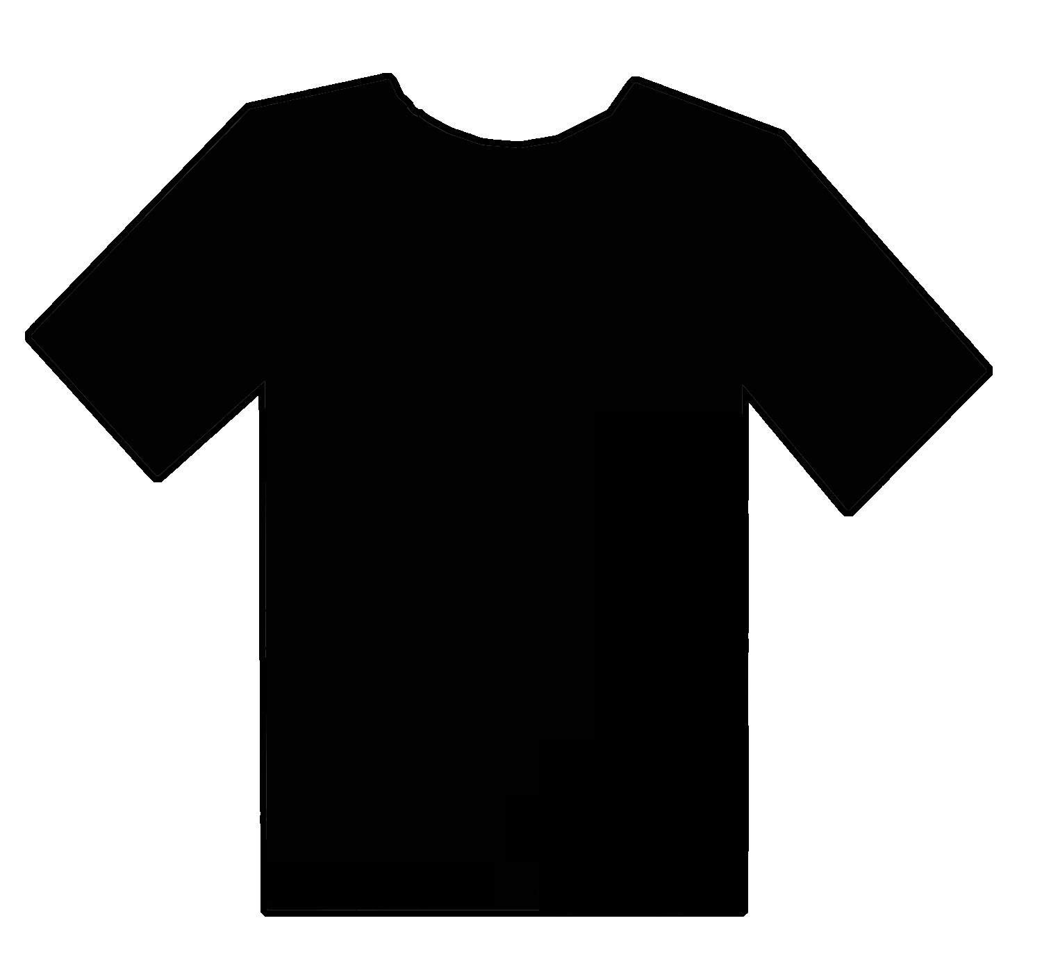 Blank t shirt image clipart best for Blank t shirt design template