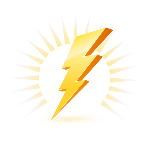 Zeus Lightning Bolt Symbol