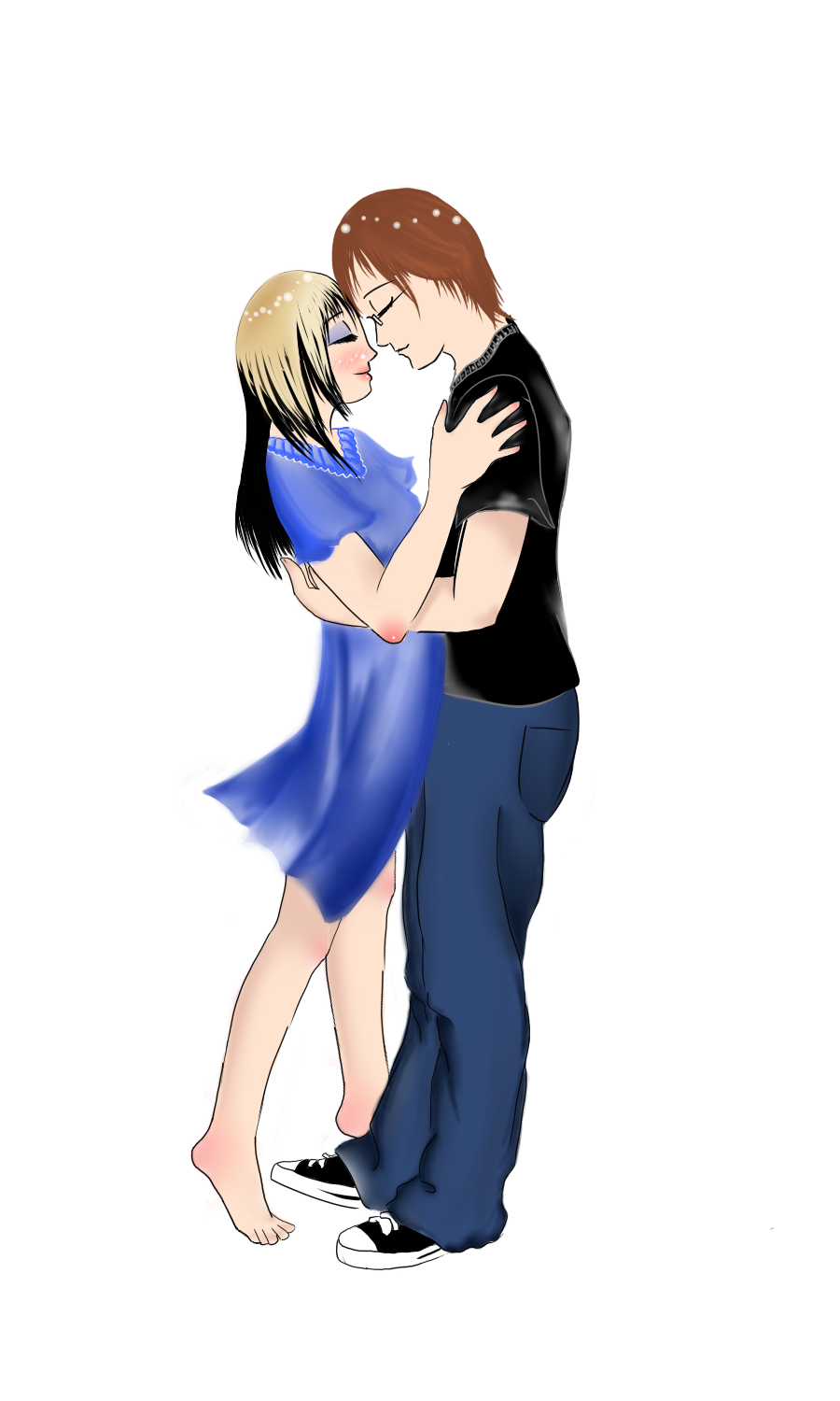 Hugging Cartoon Couple - ClipArt Best