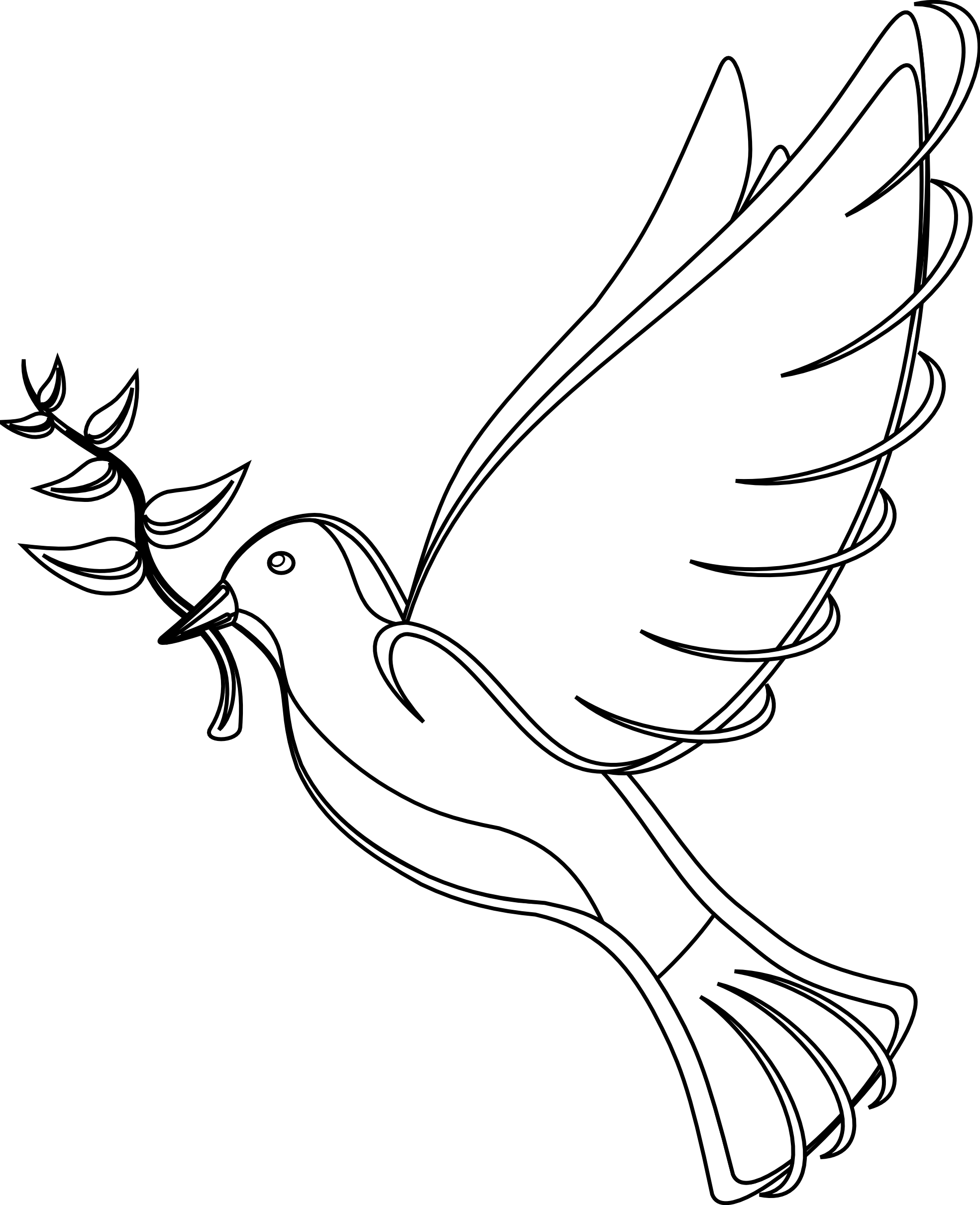 Line Art Dove : White dove clipart best