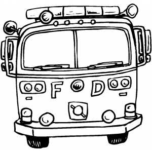 Front View Of Fire Truck Colouring