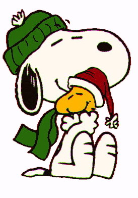 Christmas Snoopy Clip Art Picture
