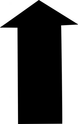 Black Up Arrow clip art vector, free vectors - ClipArt ...
