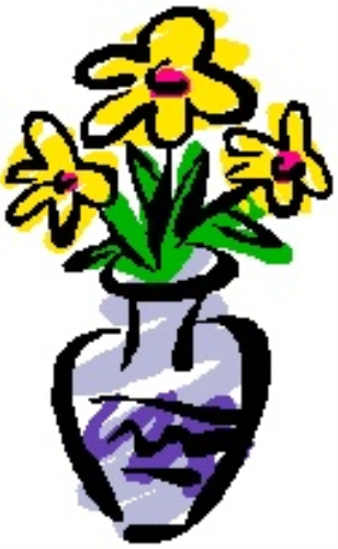 Vase of flowers clip artVase Of Flowers Clip Art