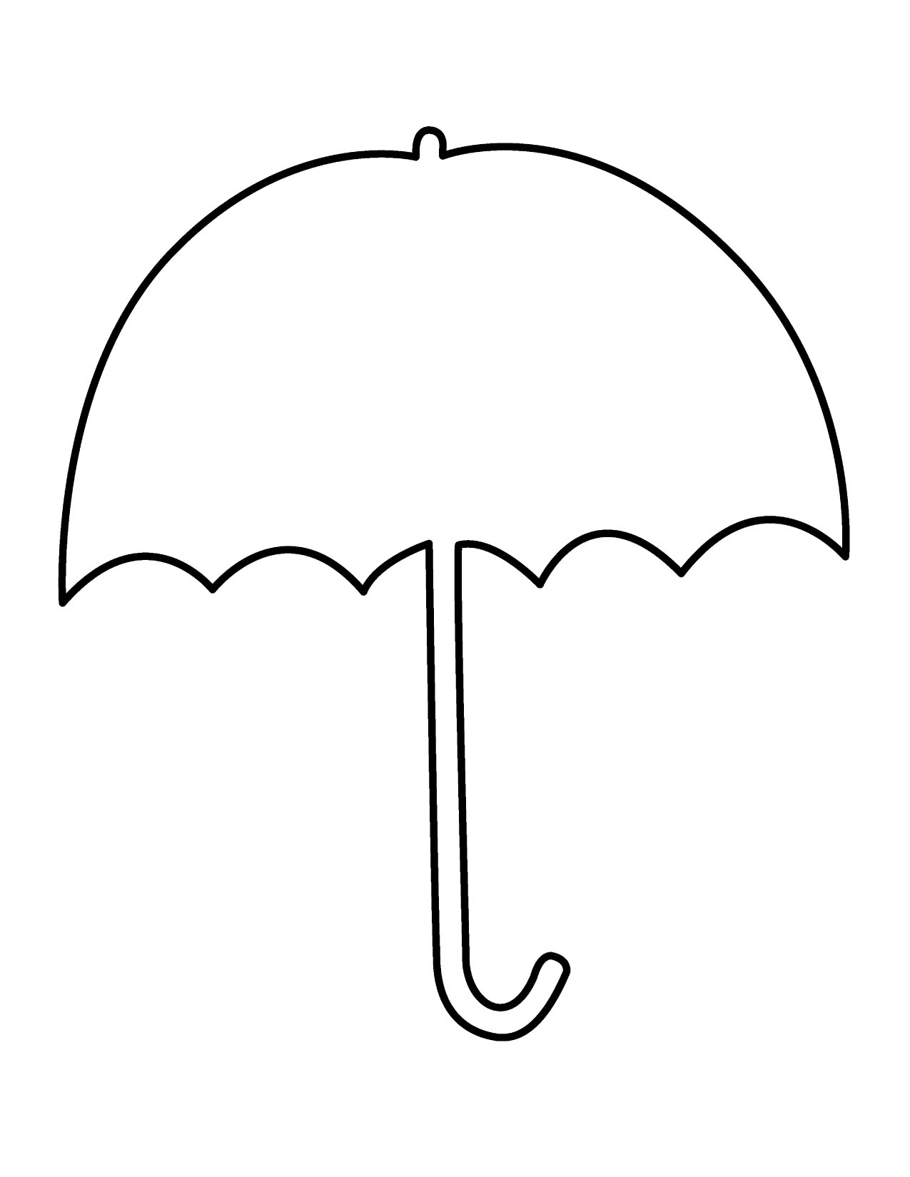 Umbrella templates printable clipart best for Printable umbrella template for preschool