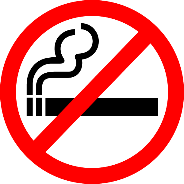 Sign No Smoking clip art - vector clip art online, royalty free ...