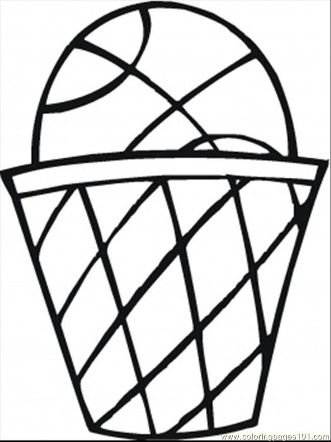 Coloring Pages Basket Ball Sports Basketball