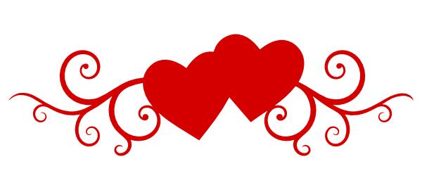 Double Heart Wedding Clipart