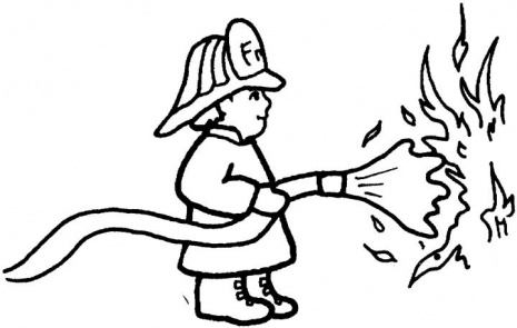Fire Colouring Pages