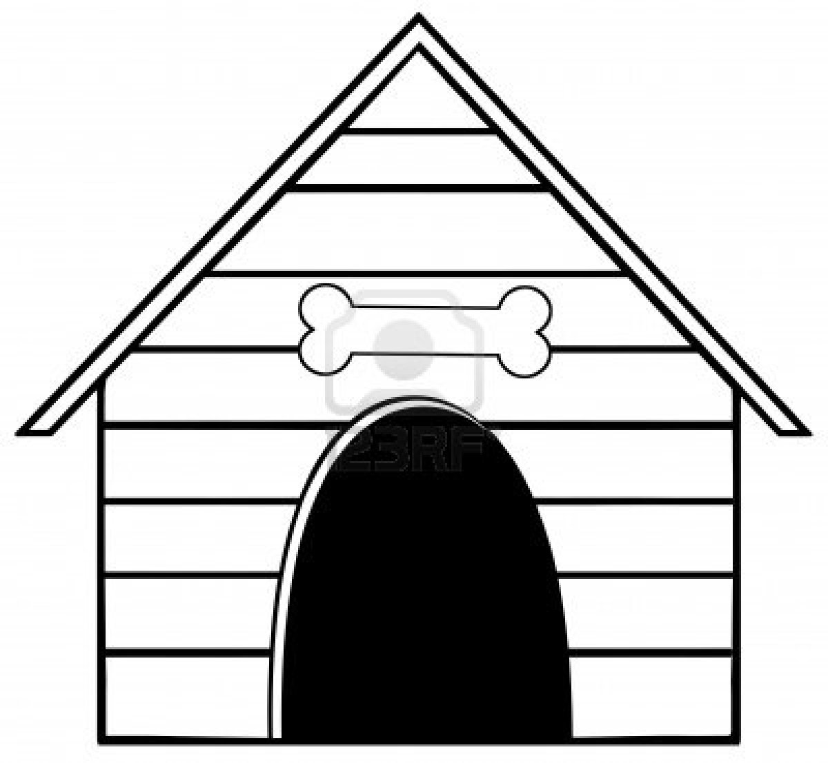 how to draw a dog kennel