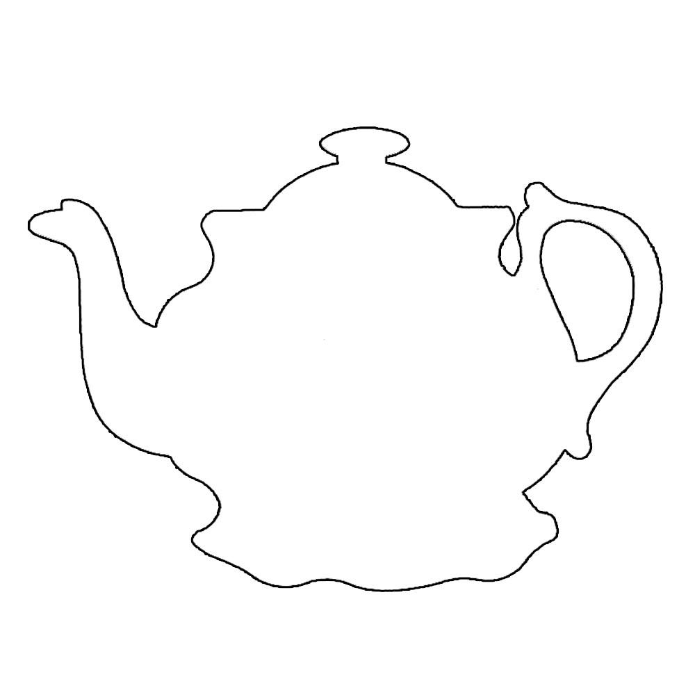 Line Drawing Ks1 : Tea pot templete clipart best