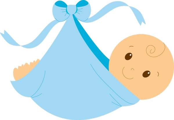 Baby shower boy clip art