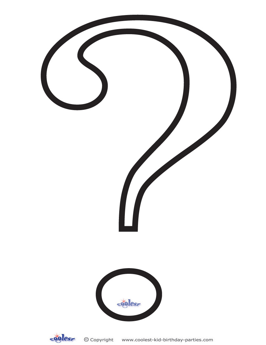 Coloring Pages Question Mark : Question mark outline printable clipart best