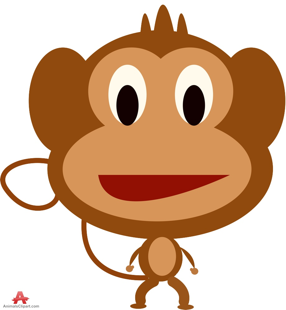 Design For Simple Cartoon Monkey - ClipArt Best