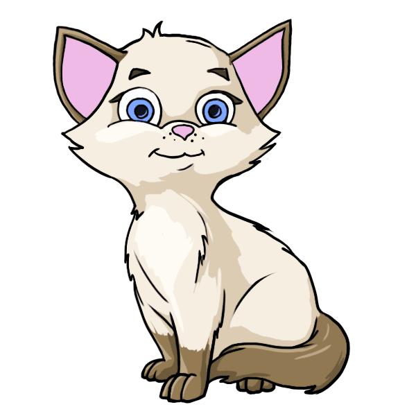 Cute cat cartoon characters