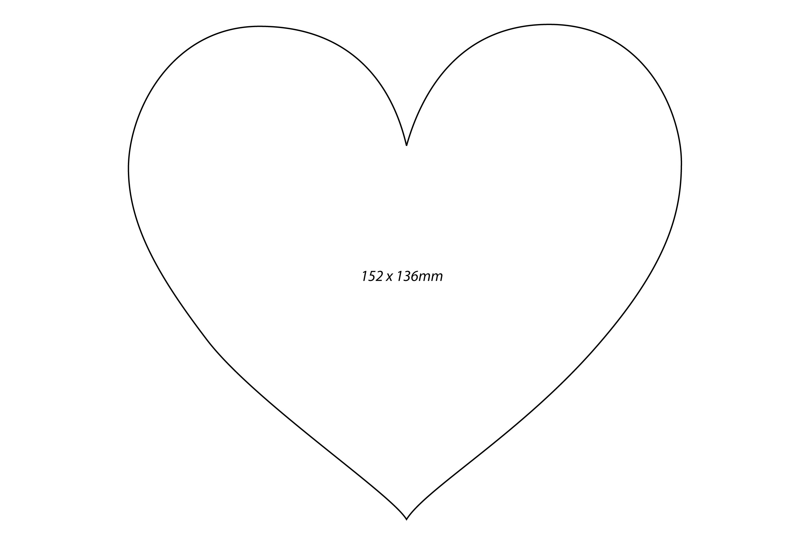 Large heart template printable clipart best for Full page heart template