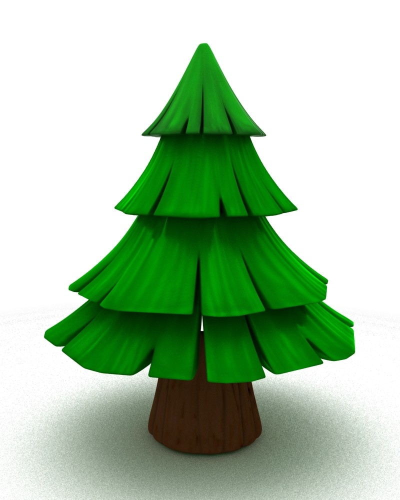 Spruce Tree Cartoon Cartoon Spruce Tree