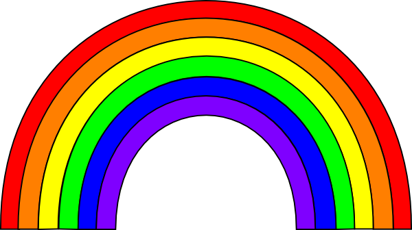 Animated Rainbow Clipart on Free Moving Clip Art