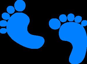 Baby Feet - Blue Clip Art at Clker.com - vector clip art online ...