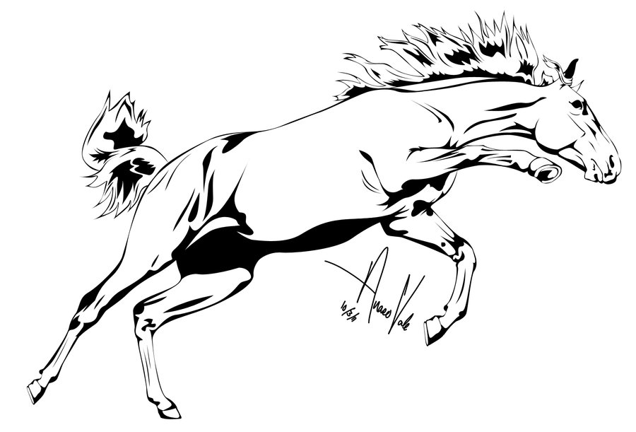 Running Horse Outline - ClipArt Best - photo#17