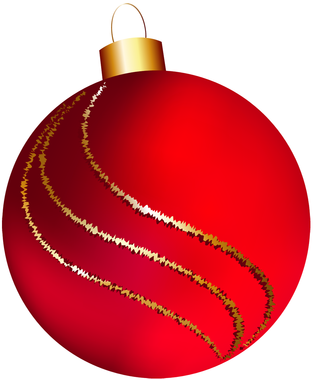 Transparent christmas large red ornament clipart clipart for Weihnachtskugeln transparent